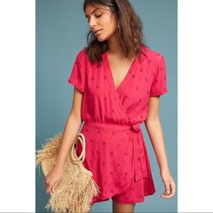 Anthro Ett:twa Pink Greenbrier Embroidered Romper